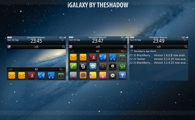 iGalaxy Blackberry Theme by TheShadow of themebowl