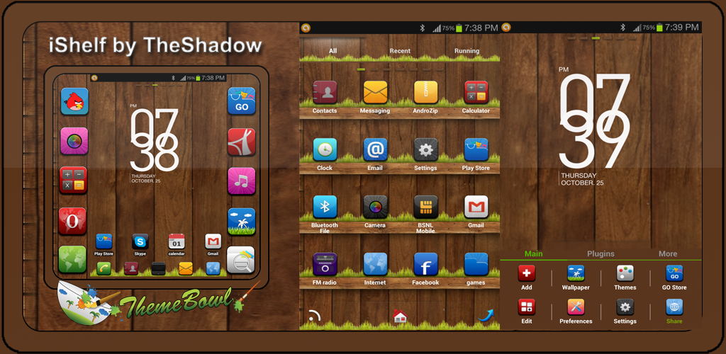 iShelf Go Launcher Ex Android theme by TheShadow