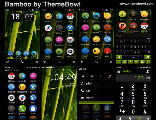bamboo nokia asha symbian theme by themebowl theshadow