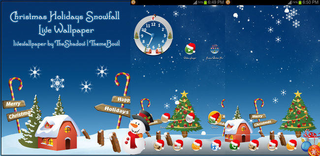 Christmas Holidays SnowFall Free Android Live Wallpaper by TheShadow