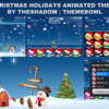 animated christmas snow theme for blackberry