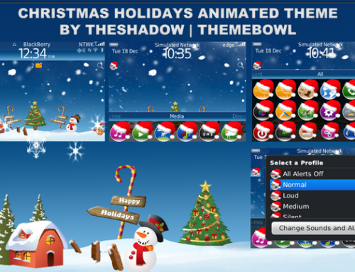 Christmas Holidays animated Blackberry Theme by TheShadow