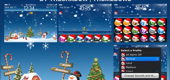 animated christmas snow theme for blackberry