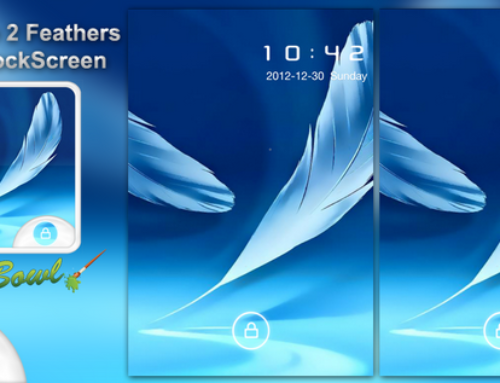 Samsung Galaxy Note2 feathers inspired Free GoLocker theme for Android