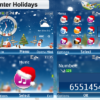 Xmas Winter Holidays Nokia Series40 240x320px, 320x240 px (C3,X2-01) and Asha Full Touch Phone Theme