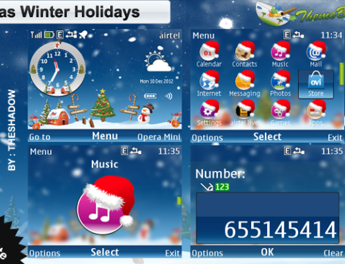 Xmas Winter Holidays Nokia Series40 240x320px, 320×240 px (C3,X2-01) and Asha Full Touch Phone Theme