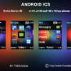 Android 4 ICS theme for Nokia C1-01, C2-00, 110, 112, 2690 & 128 x 160 px phones
