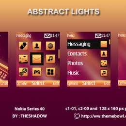 Abstract Lights theme for Nokia C1-01, C2-00, 110, 112, 2690 & 128 x 160 px phones