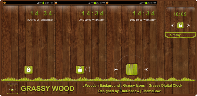 Grassywood Lock preview themebowl Homepage