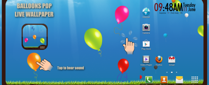 Balloons Pop Free Android S4 Sound Live Wallpaper