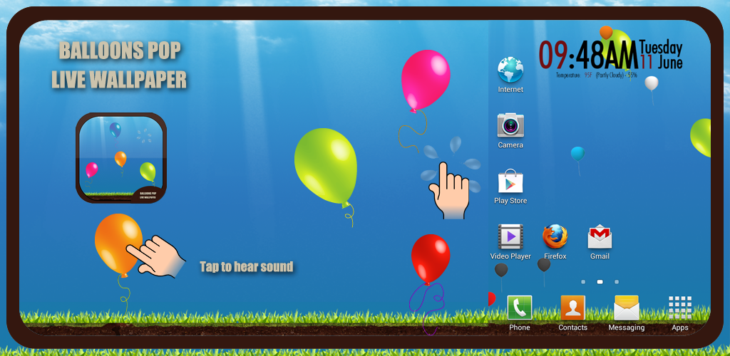 Balloons Live Wallpaper Preview Homepage