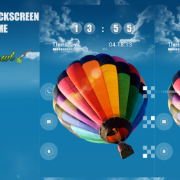 Galaxy S4 Balloons Go Locker Theme