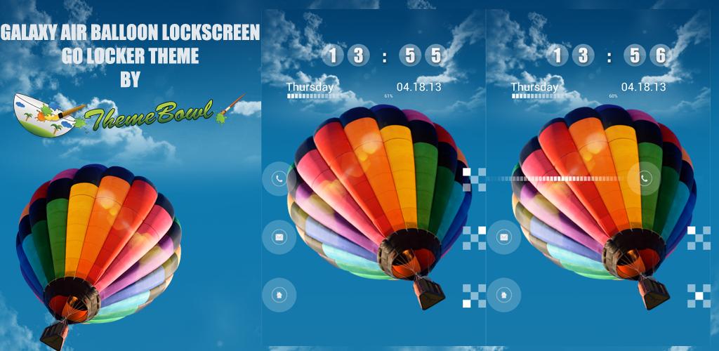 Galaxy Air Balloon GoLocker Theme Preview Homepage