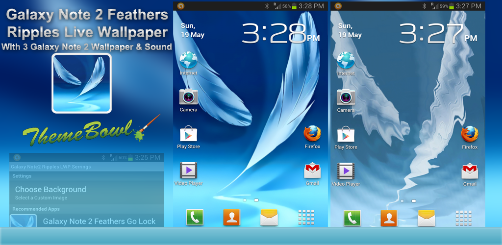 Galaxy Note 2 Feathers Live Wallpaper Preview Homepage