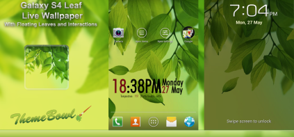 Galaxy S4 Leaf Free Android Live Wallpaper