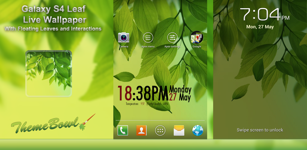 Galaxy S4 Leaf Live Wallpaper Preview Homepage