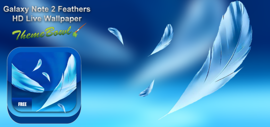 galaxy note 2 feathers hd live wallpaper