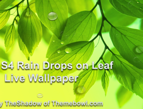 Galaxy S4 Drops Free Android Live Wallpaper