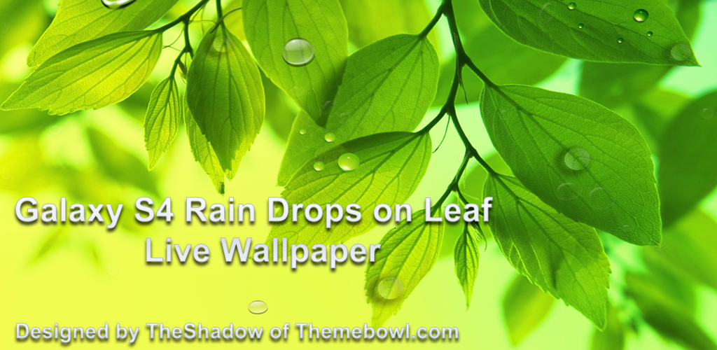 galaxy s4 rain drops on leaf live wallpaper preview googleplay Homepage