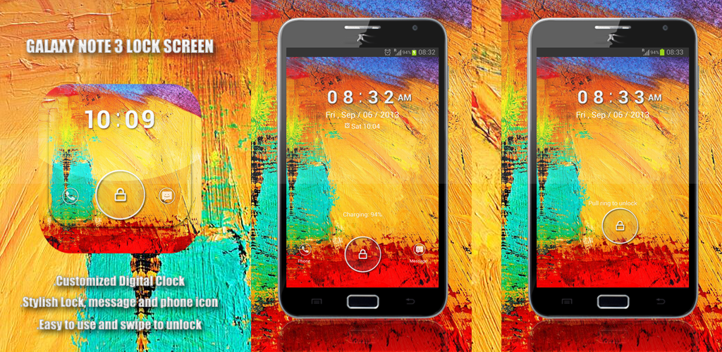 Galaxy Note 3 lock screen Preview Homepage
