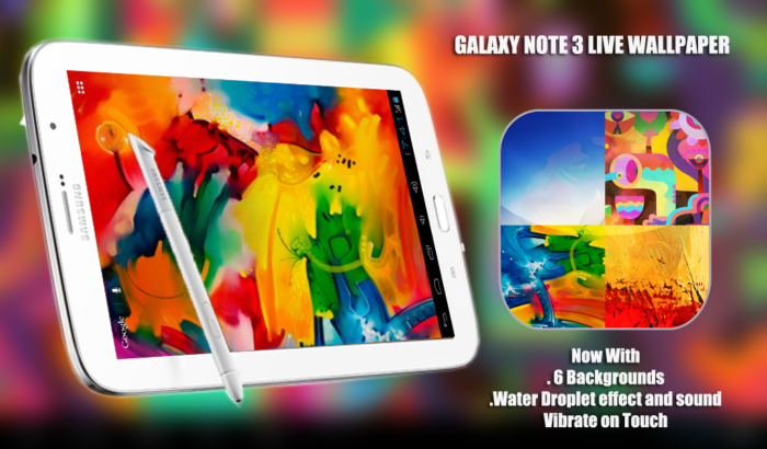 Galaxy Note 3 live wallpaper for tablets