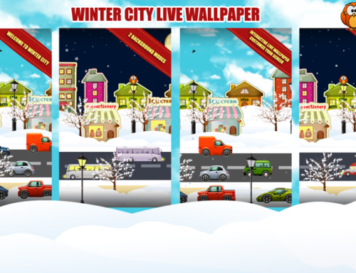 Christmas Town Android Live Wallpaper