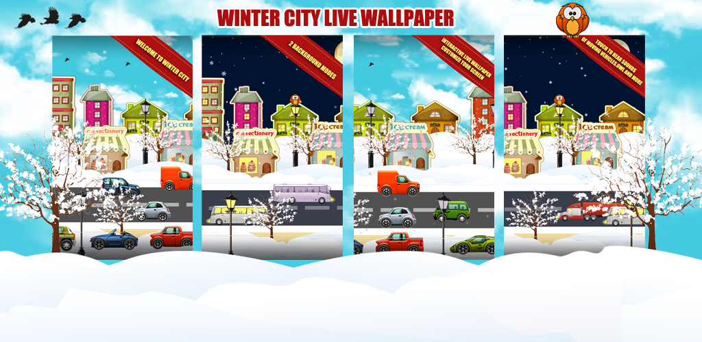 Winter City Live Wallpaper Preview