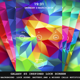 samsung galaxy s5 inspired lock screen theme