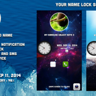 Your name Lock screen theme for android