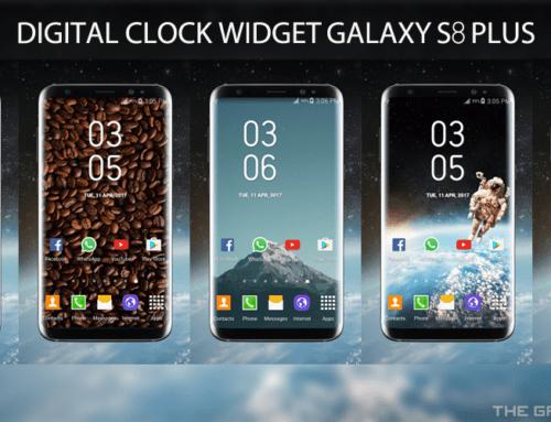 Galaxy S8 Plus Digital Clock Widget For Android