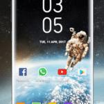 Samsung Galaxy S8 digital clock Widget