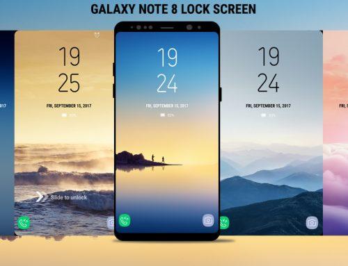 Lock Screen Galaxy Note8 DualClock Theme Wallpaper