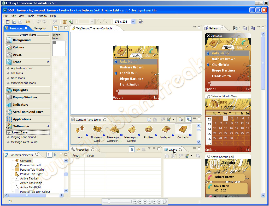 How to make own mobile themes for nokia symbian