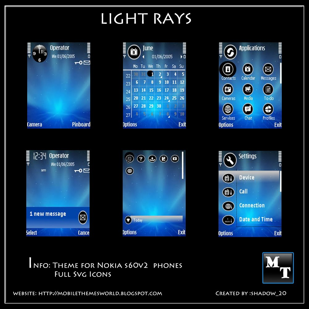 Light Rays by shadow_20-S60v2 theme