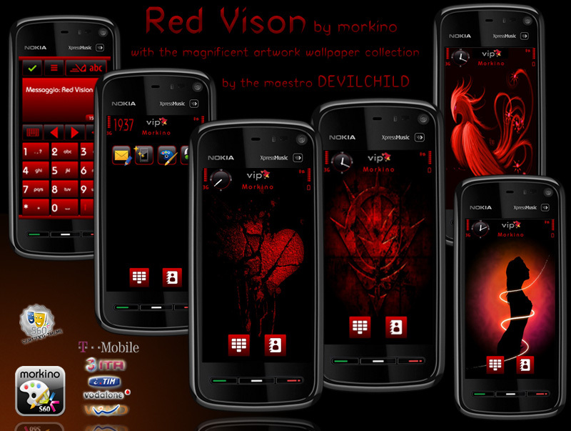 Red Vision By Morkino and Wallpapers By Devil Child