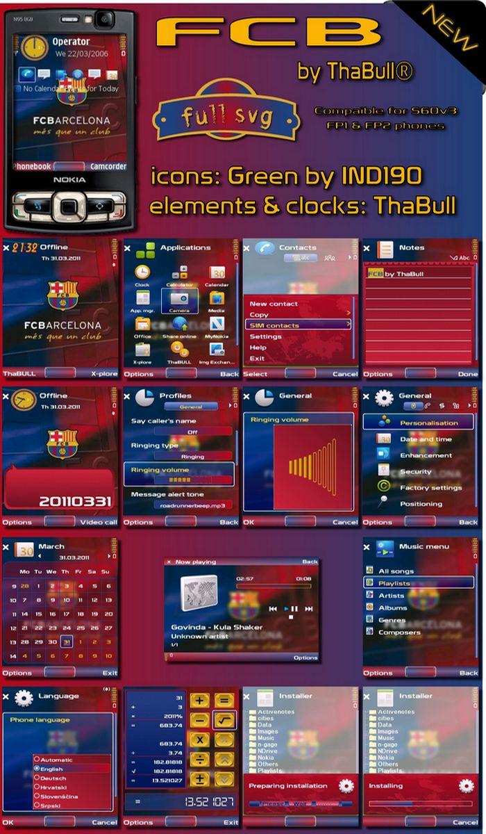 s60v3 theme fcb by thabull
