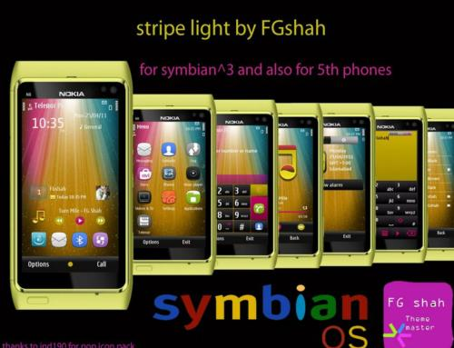 Stripe Light S3 and S60v5 mobile themes by FGshah