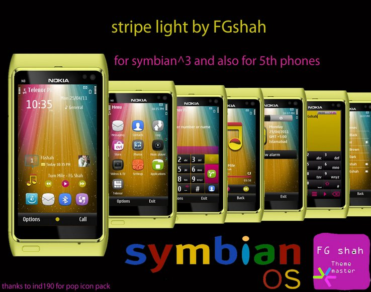 Stripe light s3 and s60v5 mobile theme
