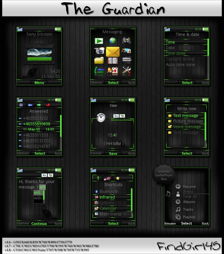 free sony ericsson theme theguardian by findgirl