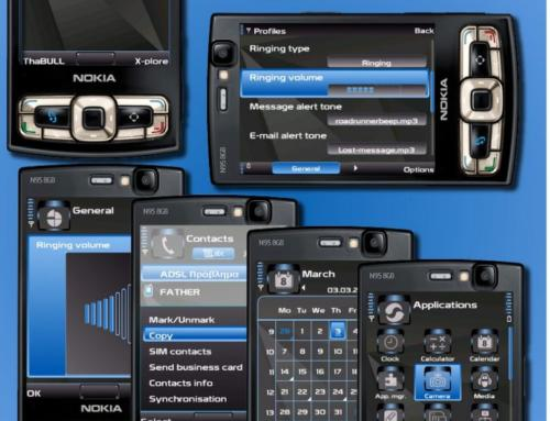 Nokia S60v3 mobile theme by ThaBull