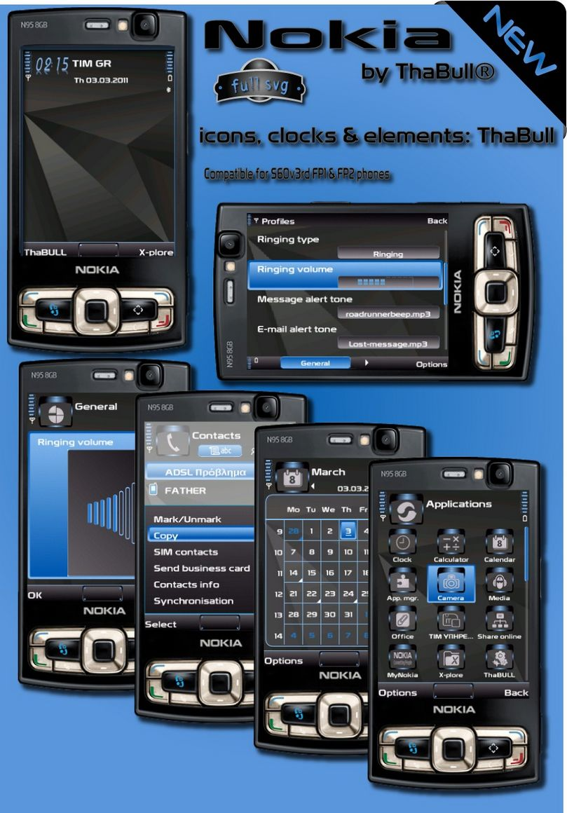 Nokia s60v3 themes by Thabull