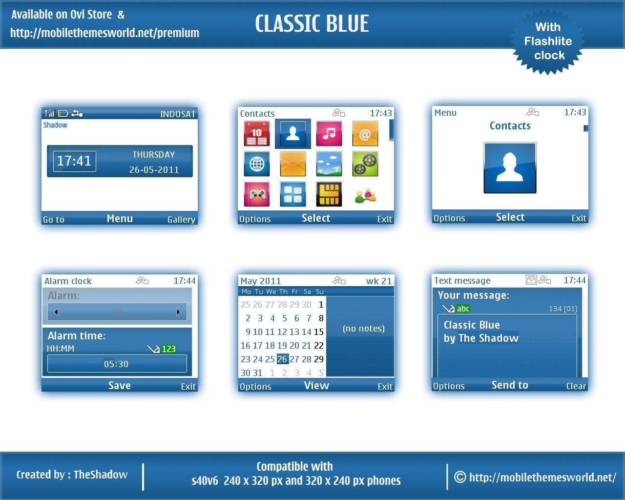 Classic blue for nokiac3 & nokia x2