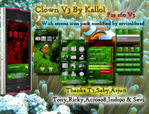 Clown V3 nokian97 theme by Kallol