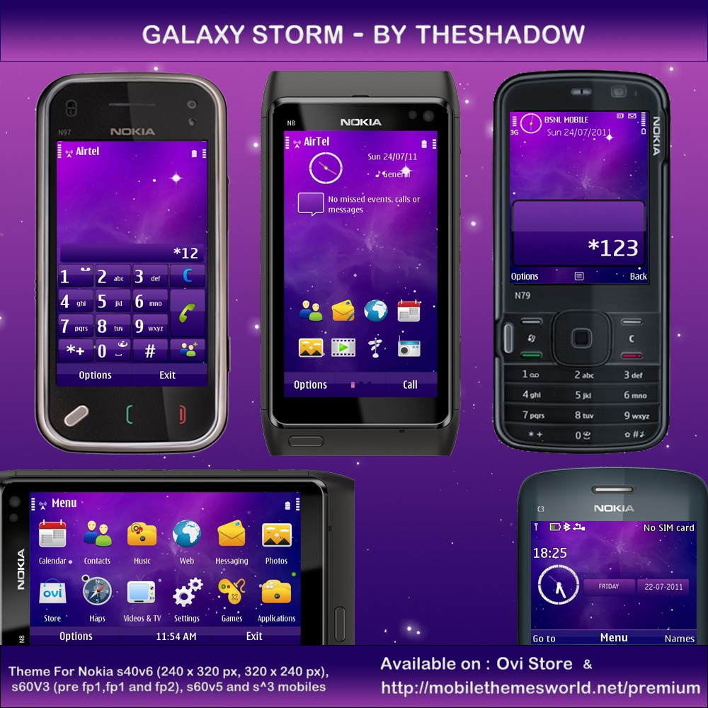 Galaxy Storm Symbian premium theme by theshadow
