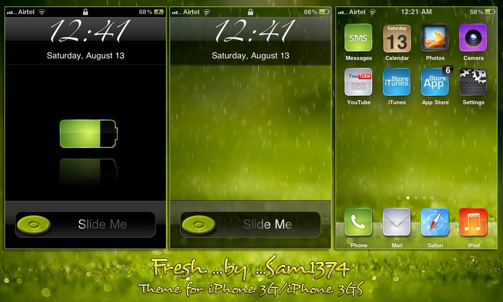 apple iphone theme fresh by sam1374