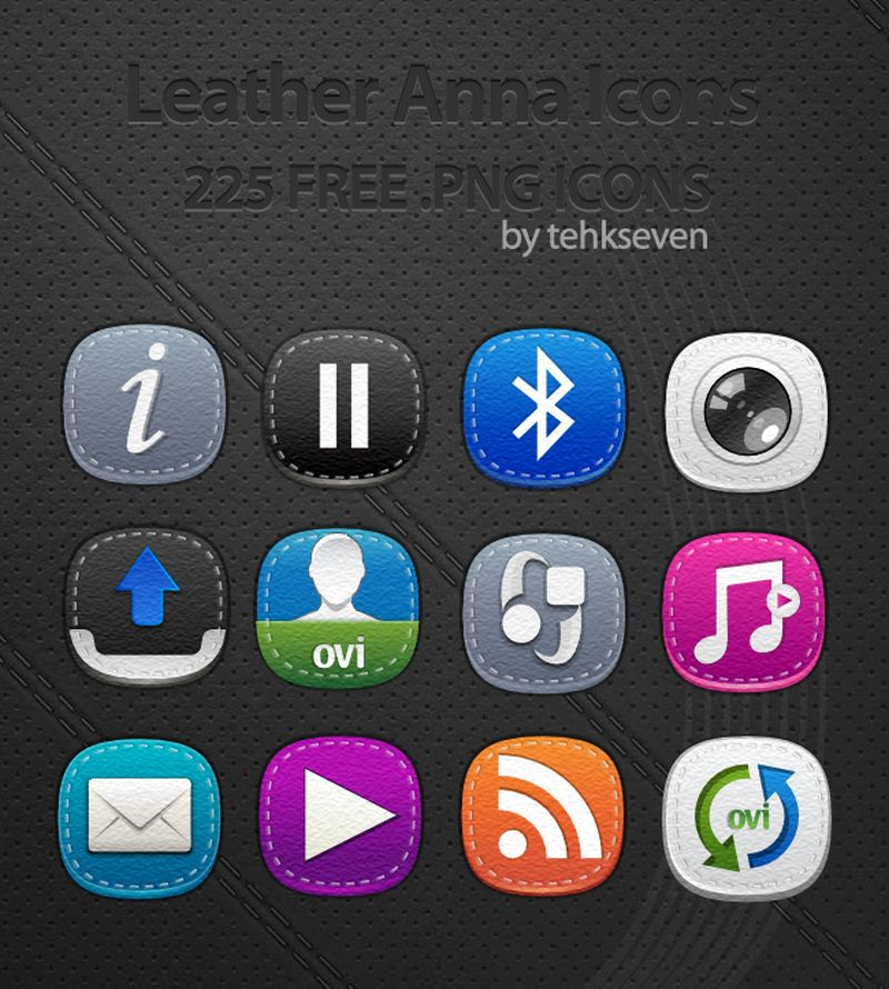 leather symbian anna icons