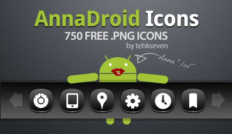 annadroid icon pack by tehkseven