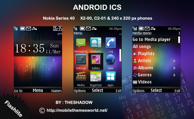 Android 4.0 Icecream sandwitch theme by theshadow for nokia