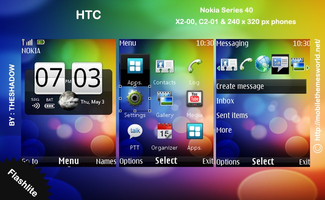 Htc live nokia theme for 240 x 320 px phone