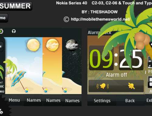 Live Summer theme for Nokia Asha 300, C2-03 & C2-06, X3-02 phones